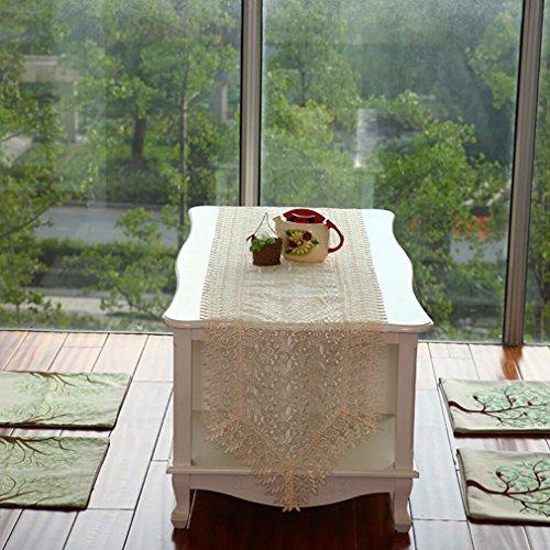 Corredor de la tabla Retro Table Runner Crochet Doilies manteles cuadrados de encaje bordado de algodón borla de encaje...