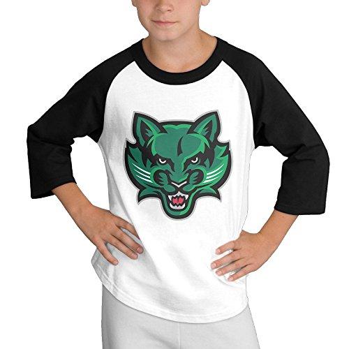 Price comparison product image MULTY9 Binghamton University Bearcat Child Youth 3/4 Raglan T-Shirt Top Medium