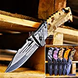 KCCEDGE BEST CUTLERY SOURCE EDC Pocket Knife Camping Accessories Razor Sharp Edge Camouflage Folding Knife Camping Gear Survival Kit 56843