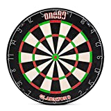 ONE80 Gladiator II Dartboard with Top-Grade African Sisal and Sword Edge Staple Free Wire Spider