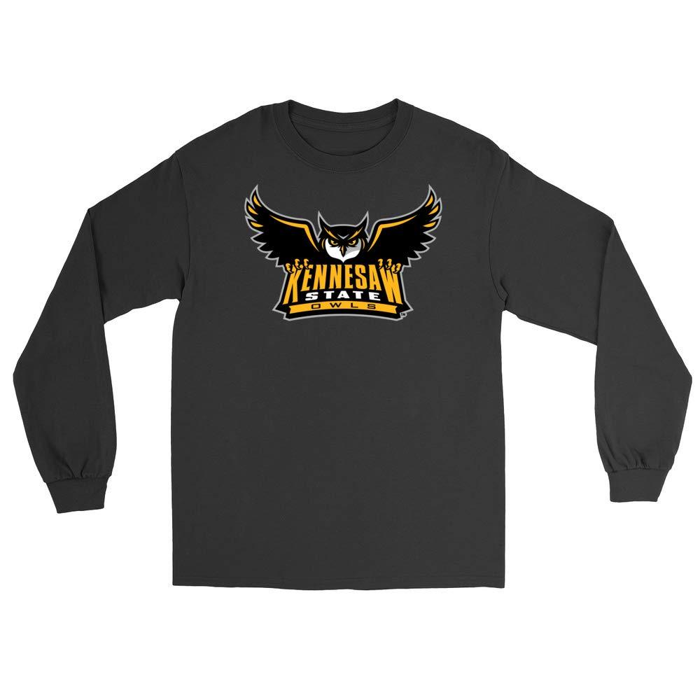 RYLKEN06 Mens//Womens Boyfriend Long Sleeve Tee Official NCAA Kennesaw State University Owls