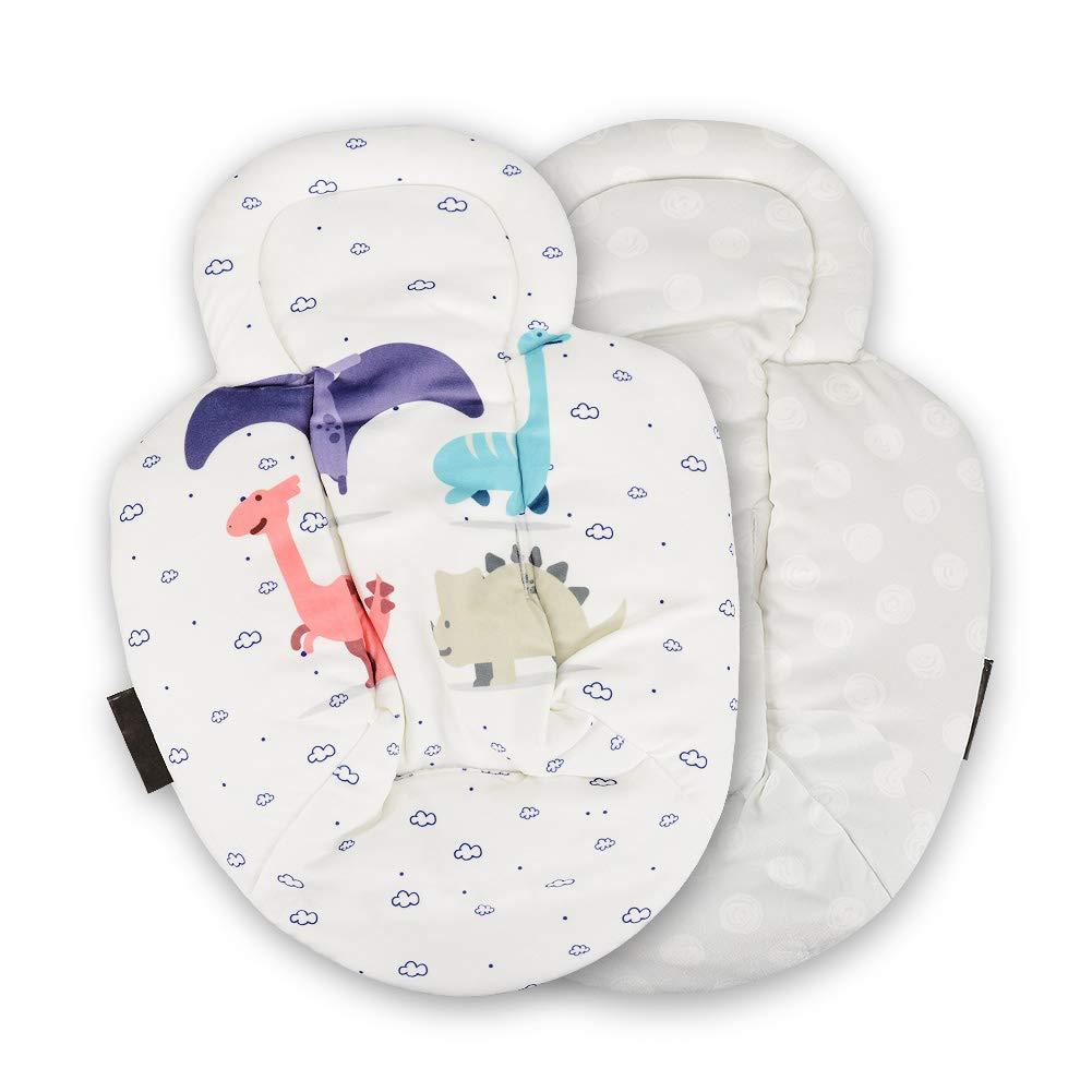 Newborn Insert, Reversible Newborn Baby Infant Insert Soft Plush Provide Head and Body Support for Stroller,Car Seat,Bassinet,Bouncer, Swing