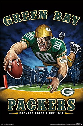 Trends International Wall Poster Green Bay Packers End Zone, 22.375