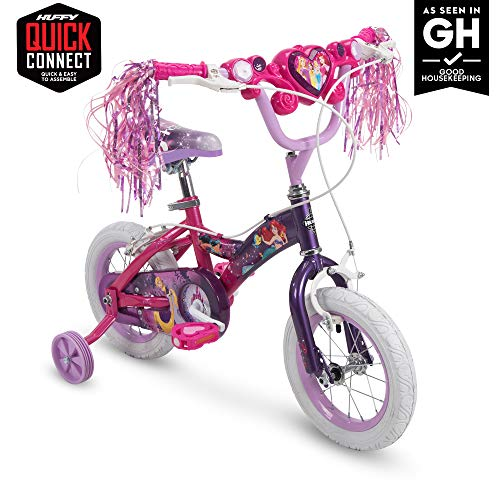 Huffy Disney Princess Kid Bike 12 inch & 16 inch, Quick Connect Assembly & Regular Assembly, Pink