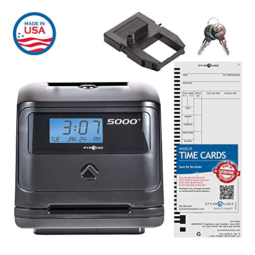 Pyramid 5000 Auto Totaling Time Clock, 100 Employees - Made in USA by Pyramid Time Systems (Image #5)