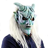 Halloween Clown Terrorist Masks,Creepy Scary Or Funny Latex Mask for Costume Party Decoration Props Mask with Hair Dress up
