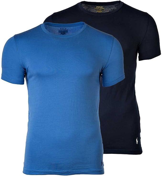 Polo Ralph Lauren Pack de 2 Hombres Camisetas, Cuello Redondo ...