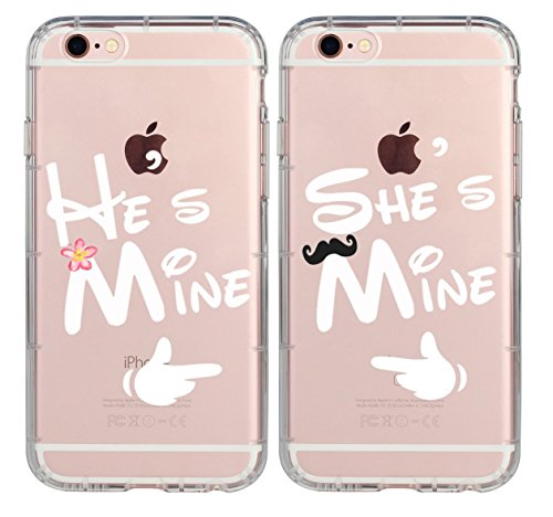 (Couple Case for Girls,Cute Couples Things for Girlfriend Boyfriend,He's Mine She's Mine Couple Matching Case for Hubby Wiffy Wife Husband Love Quotes Case for iPhone 7 Plus/8 Plus-She's Mine)