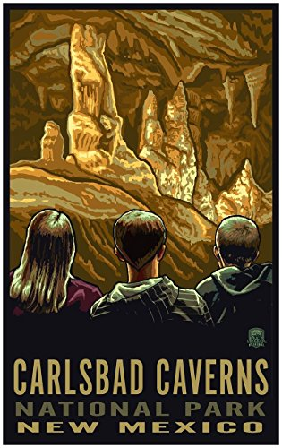 Carlsbad Caverns New Mexico Travel Art Print Poster by Paul A. Lanquist (24