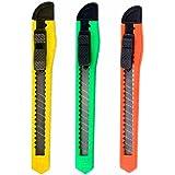 24 Knife Utility Box Cutter Retractable Snap Off Lock Razor Sharp Blade Tool !!
