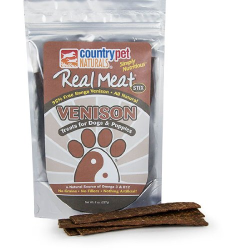 Cheap Country Pet Real Meat Jerky Sticks, Venison, 8 Ounce
