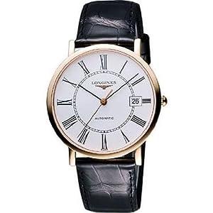 51mXHRMi7IL. SS300  - Longines Presence Automatic 18k Rose Gold Mens Strap Watch White Dial Calendar L4.787.8.11.0