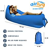 Luxury Inflatable Lounger Air Sofa by Airlug (pink) | No Pump Required | Inflates Instantly | Indoor & Outdoor Hangout Lounge | Air Bag Hammock Bean Bag for Beach Patio Pool Float Camping Portable Furniture