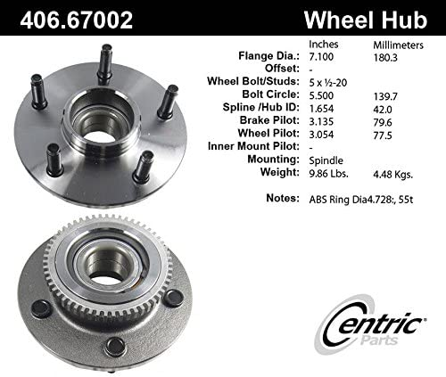 Centric Wheel Hub Assembly 406.67002E