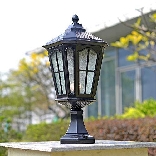 - DFEIL Firenze Outdoor Pedestal Post Light European IP56 Waterproof Garden Villa Garden Lamp Retro Home Traditional Column Lantern Gate Wall Pillar Lamp American Landscape Bollard Lighting