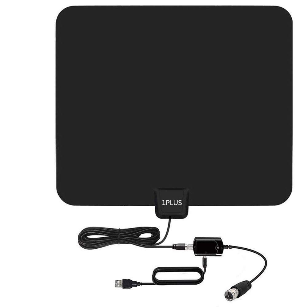 HDTV Antenna, 85 Miles Indoor HDTV Antena Digital TV Antenna with Signal Amplifier-Support 4K 1080P Freeview Channels - 13.2Ft Coaxial Cable