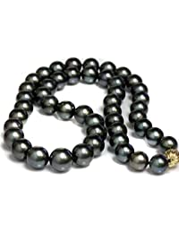 "14K Gold 11-13mm Tahitian South Sea Cultured Pearl Necklace - 24"" Matinee Length"