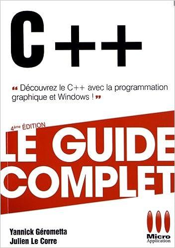 Livres gratuits en ligne GUIDE COMPLET£C++ pdf epub