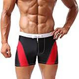 Baleaf Men's Square Cut Boxer Brief Gradient Color Swimwear