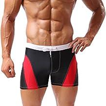 Baleaf Men's Square Cut Boxer Brief Gradient Color Swimwear