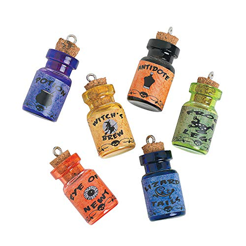 Fun Express - Wizard Potion Charm Bottles for Halloween - Craft Supplies - Adult Beading - Charms - Halloween - 6 Pieces]()
