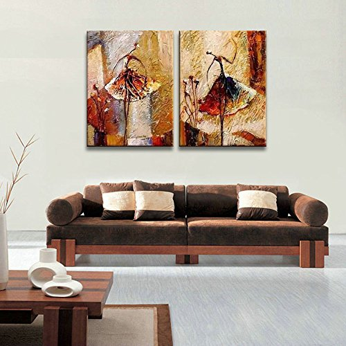 Amazon.com: Wieco Art - Ballet Dancers 2 Piece Modern Decorative ...