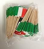 144 Italy Italian Flag Mini Picks Toothpicks