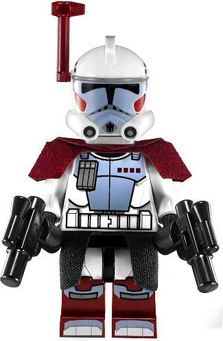 Lego Star Wars Minifigure Elite ARC Trooper (2012) With Kama Cloth and Blasters from Set 9488