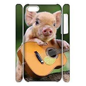 Cell phone 3D Bumper Plastic Case Of Little Pig For iPhone 5C