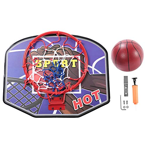 Netball System - Alomejor Children Mini Basketball Hoop with Ball and Pump Indoor Mini Basketball Decompress Game Gadget Toy for Kid Education (Blue)