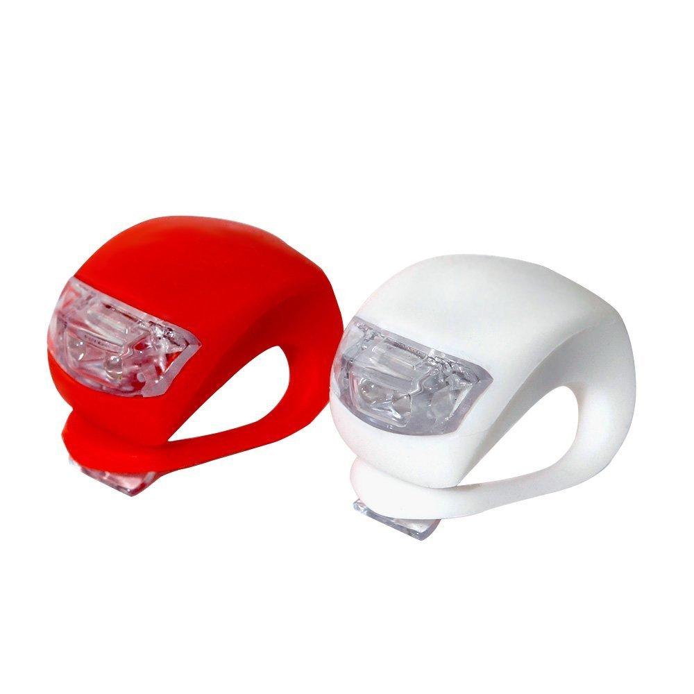 iQualTech Set di 2 LED per bicicletta super luminosi