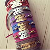 IF - Personalized Wrap Bracelet Gift in Gold, Silver, or Copper, Leather Wrap Bracelet, Inspiration Bracelet Jewelry, Motivational Bracelet, Motivational Jewelry, Custom Bracelets, Custom Gift