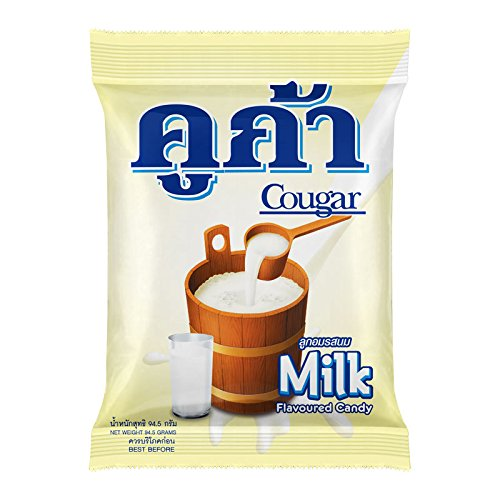 Cougar, Milk Flavour Candy, net weight 94.5 g (Pack of 2 pieces) / Beststore by KK8 ()
