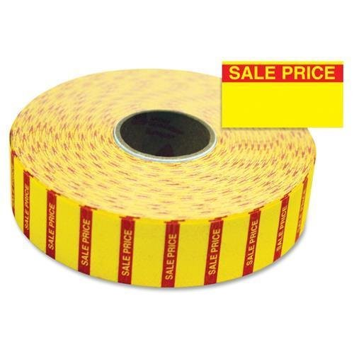 925144 Monarch Sale Price Labels - 0.78'' Width x 0.44'' Length - 1 / Pack - Rectangle - 3/Roll - Bright Yellow by Monarch
