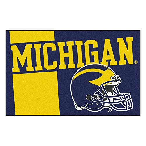 University of Michigan Custom Logo Starter Rug Michigan Starter Rug