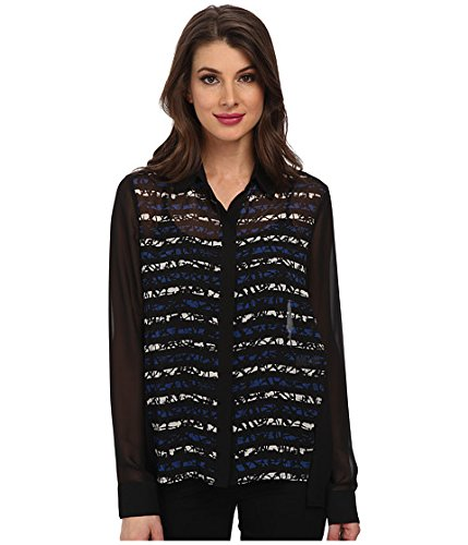 ebe5b842a06a36 Kenneth Cole New York Women's Gemini Blouse Delft Multi XL at Amazon ...
