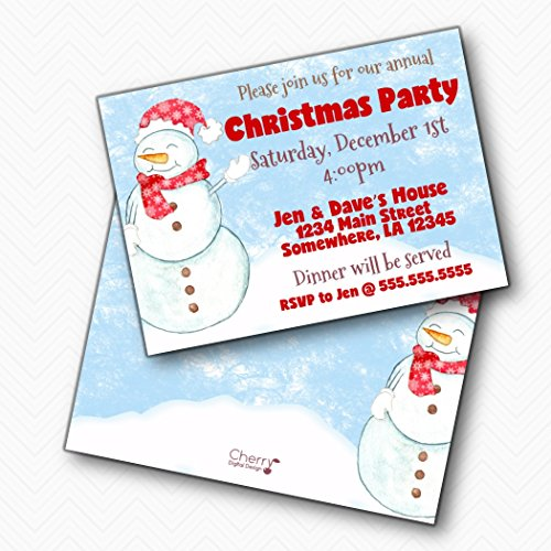 Snowman Christmas Party Invitations | Envelopes Included ()