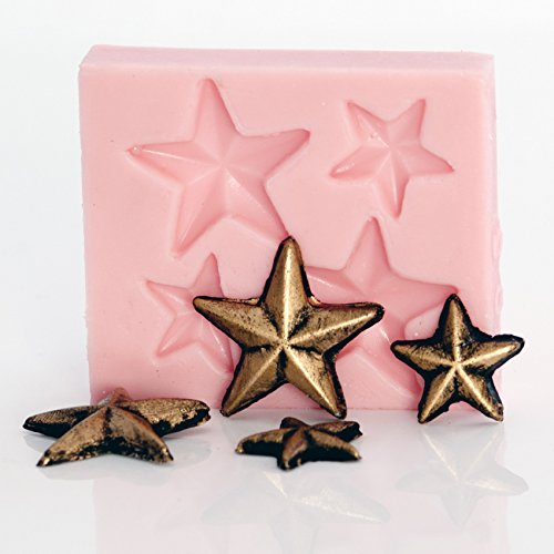 Tiny Star Silicone Mold Food Safe Fondant, Chocolate, Candy, Resin, Polymer Clay Mold, Metal Clay. Food Safe, Jewelry, Craft Mold. (Food Safe Clay Molds)