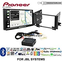 Volunteer Audio Pioneer AVIC-W8400NEX Double Din Radio Install Kit with Navigation, Apple CarPlay and Android Auto Fits 2003-2009 Toyota 4Runner with Amplified System