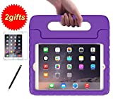 SUPLIK Kid-Proof Drop-Resistant Lightweight Protective Handle Stand Case with Screen Protector and Stylus for 7.9 Inch iPad Mini 1 2 3 Tablet, Purple