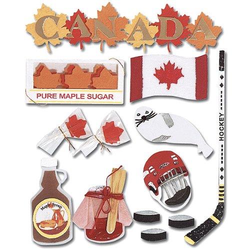 Jolee's Boutique Canada Destination - Scrapbook Canada Stickers