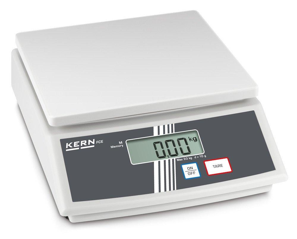 W/ägeplatte: BxT 252x228 mm Kunststoff d Kern FCE 15K5N Max mobil Linearit/ät: 15 g Tischwaage : 15 kg : 5 g Ablesbarkeit handlich Reproduzierbarkeit: 10 g Einsteiger-Tischwaage leicht W/ägebereich