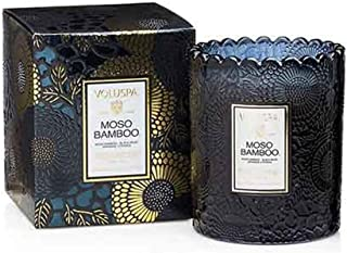 product image for Voluspa Moso Bamboo Scalloped Glass Candle, 6.2 Ounce
