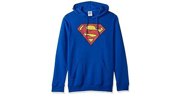 e1985b9cb2 Amazon.com  Superman Men s Fleece Pullover Hoodie  Clothing