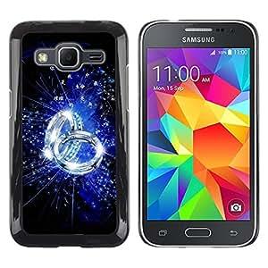 Be Good Phone Accessory // Dura Cáscara cubierta Protectora Caso Carcasa Funda de Protección para Samsung Galaxy Core Prime SM-G360 // Blue Ring
