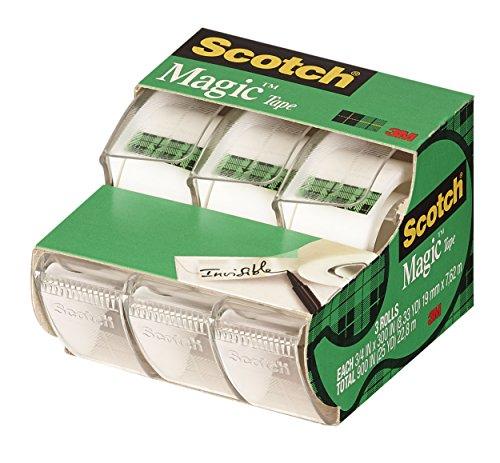 051131576346 - Scotch Magic(TM) Tape,  3/4 x 300-inches-Transparent-3 ct carousel main 1