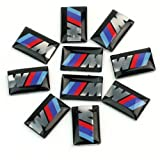 10pcs Self-Adhesive M Tec Sport BADGE STICKER EMBLEM fits BMW M3 M5 M6 Wheel New