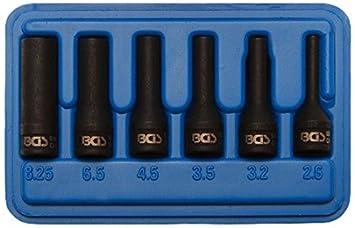 BGS abdreh Uso Juego para Bujía Electrodo, 6,3 mm, 6 piezas, 1 pieza, 5290: Amazon.es: Bricolaje y herramientas