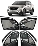 AUTOFACT Magnetic Window Sun Shades for Hyundai Creta Zipper Magnetic Sunshades
