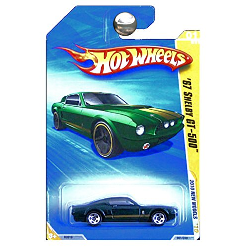 Hot Wheels 2010 New Models 1967 Ford Shelby Mustang GT500 GT-500 Green with Gold Stripes ()